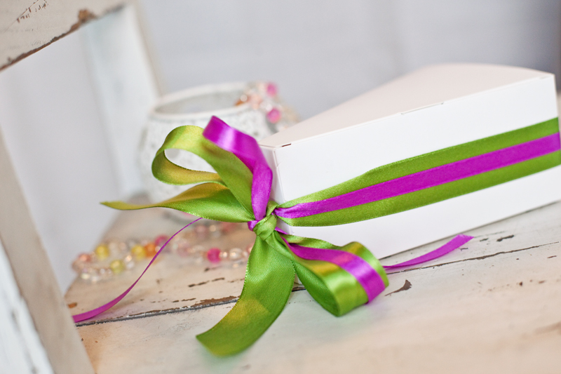 Krabičky na výslužky - bílé