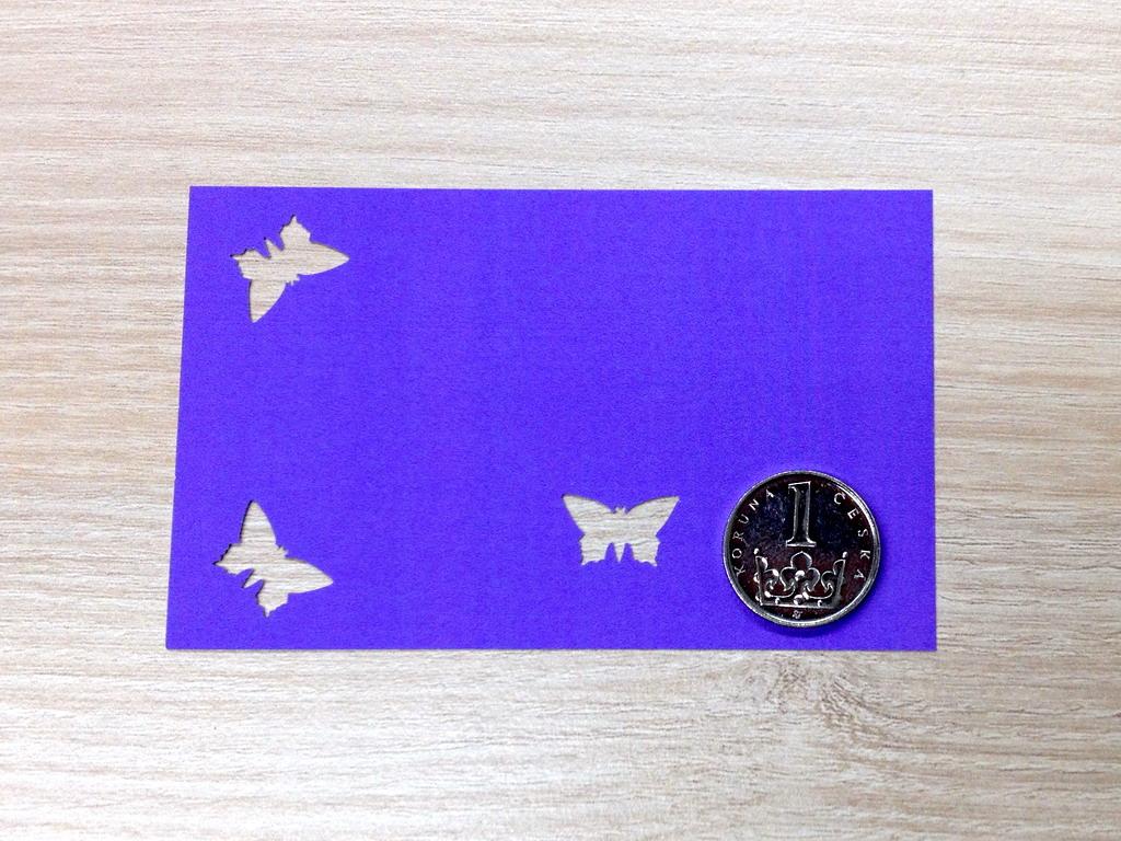 Ozdobná děrovačka 15 mm - motýlek