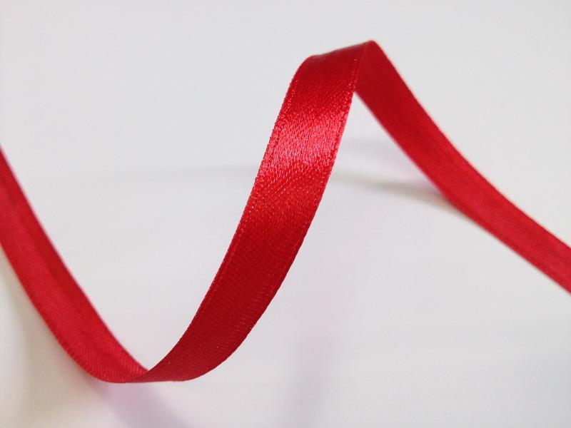 Červené saténové stuhy - 22 m / 1,0 cm