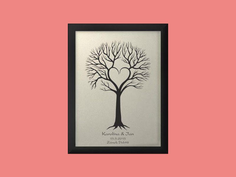 Svatební strom 4 se jmény 34 x 44 cm