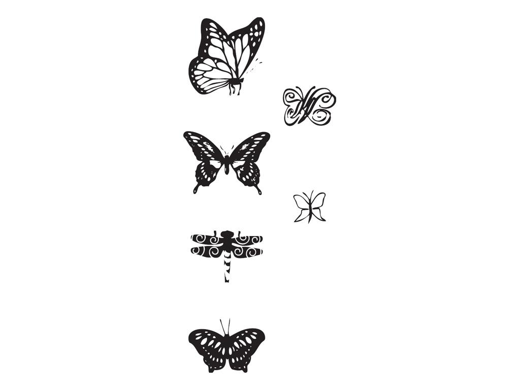 Razítka - motýli