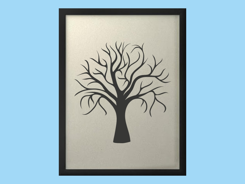 Svatební strom 1 v rámu 43 x 53 cm