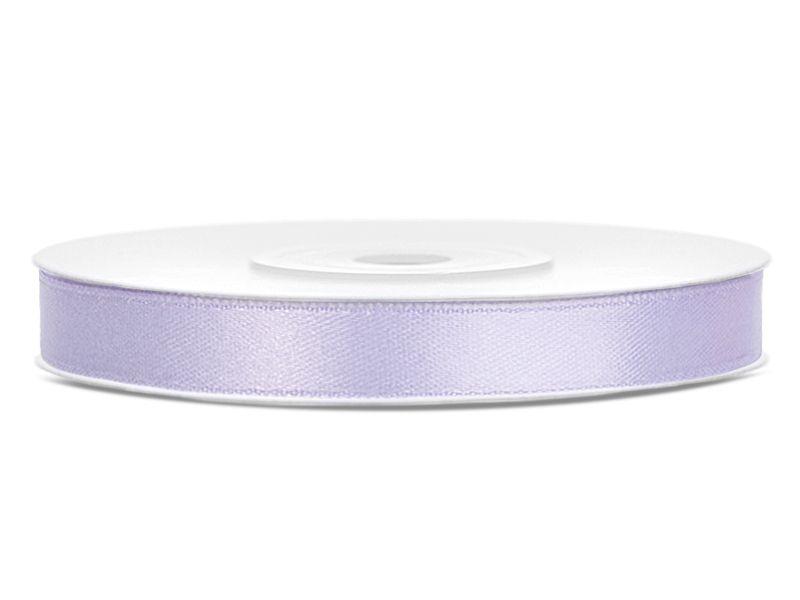 Světle lila saténové stuhy - 25 m / 1,2 cm