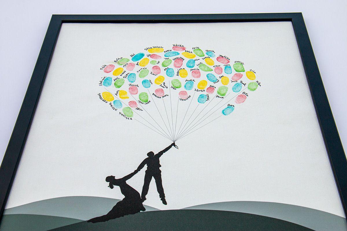 Svatební balónky hostů se jmény 53 x 73 cm