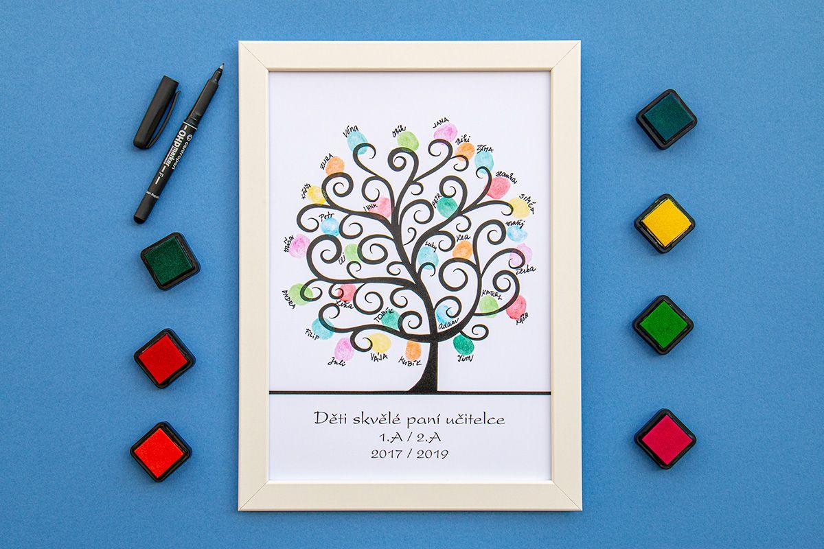 Strom dětí 2 v bílém rámečku 21 x 30 cm