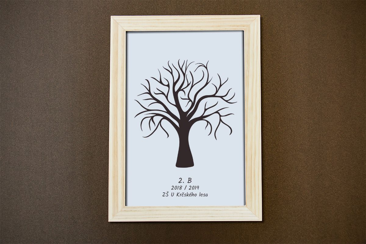 Strom dětí 1 v dřevěném rámečku 21 x 30 cm