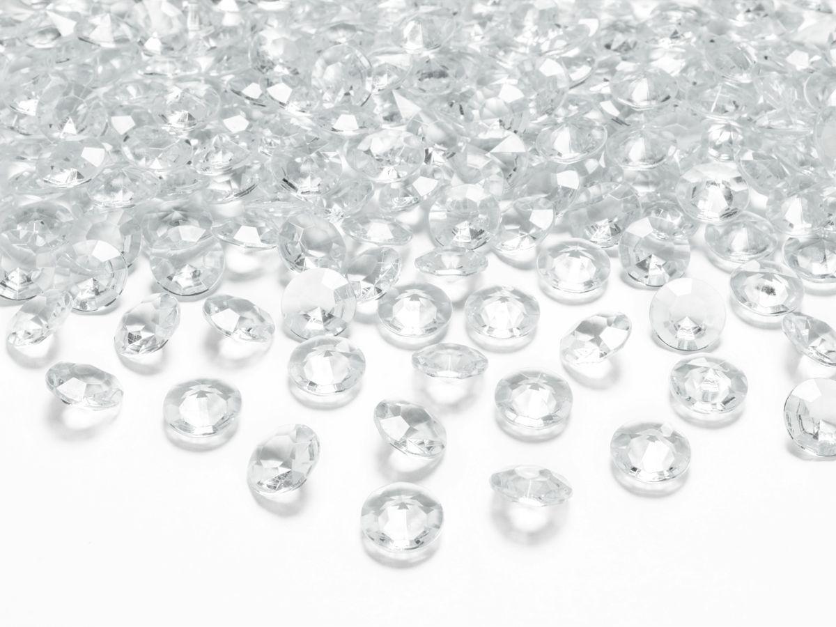Dekorační akrylové diamanty 100 ks - čiré