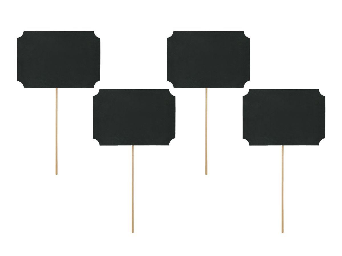 Rekvizity na focení - černé cedulky 4 ks