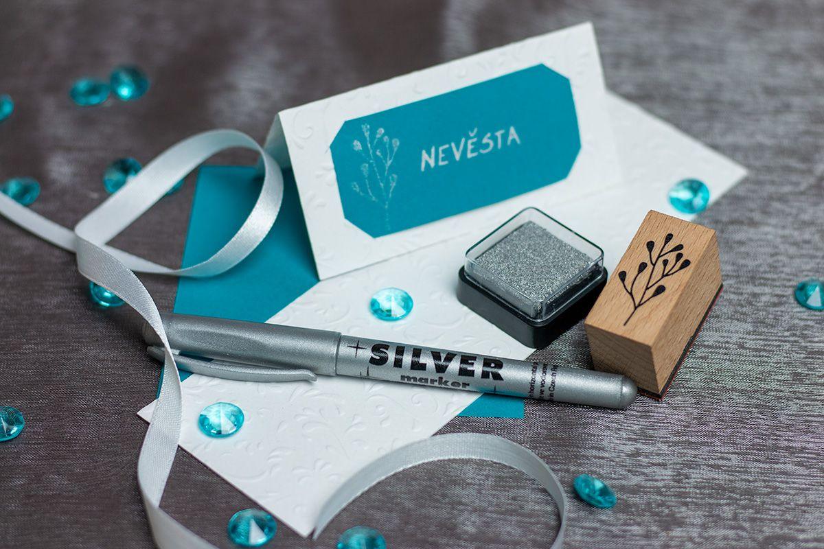 Metalický stříbrný fix - permanentní