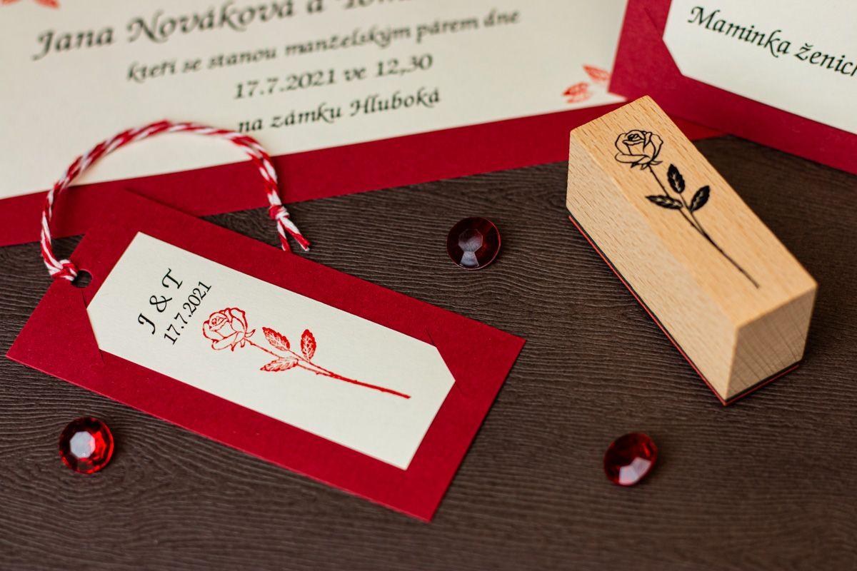 Dřevěná sada 10 razítek - Ornamenty