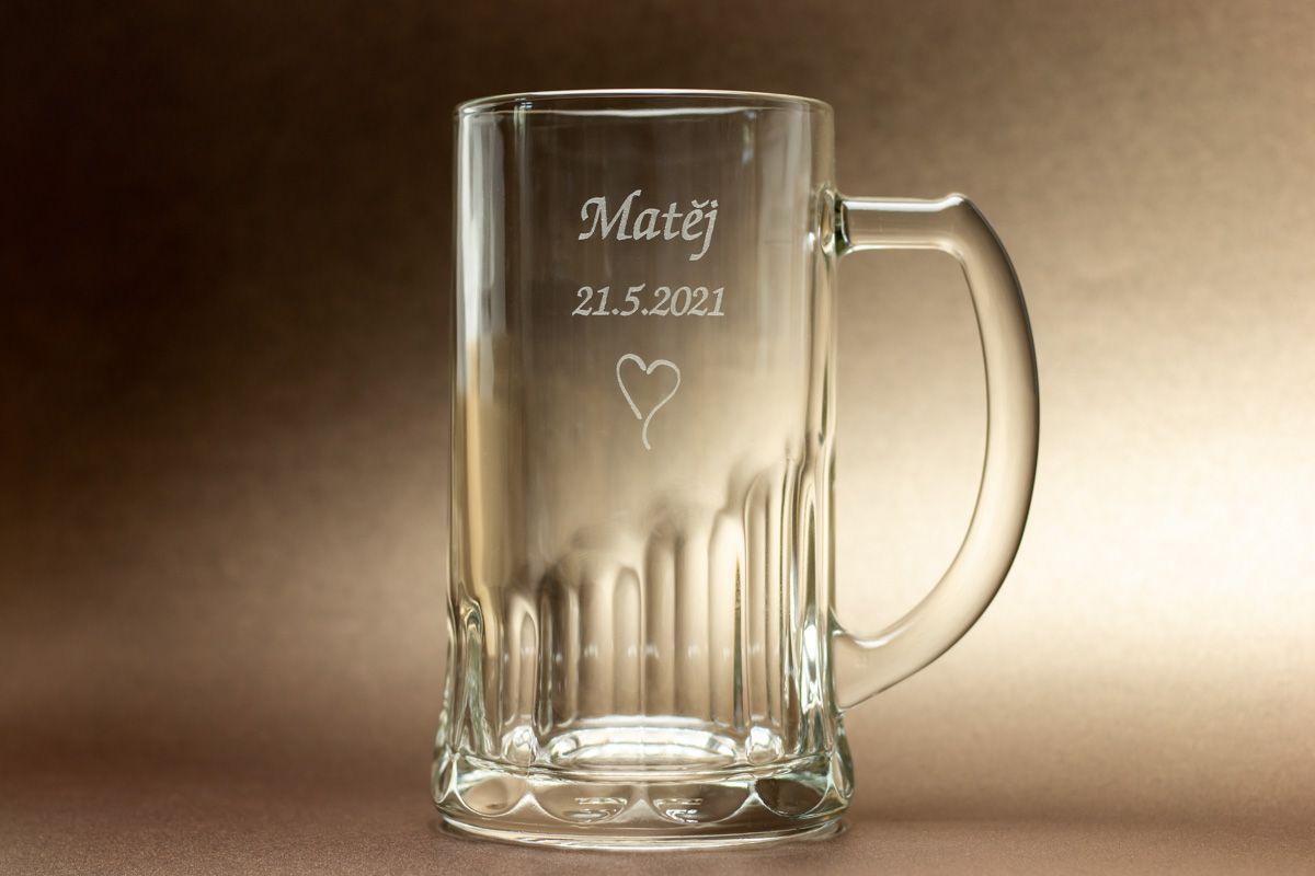 Pivní půllitr se jménem - od 2 ks