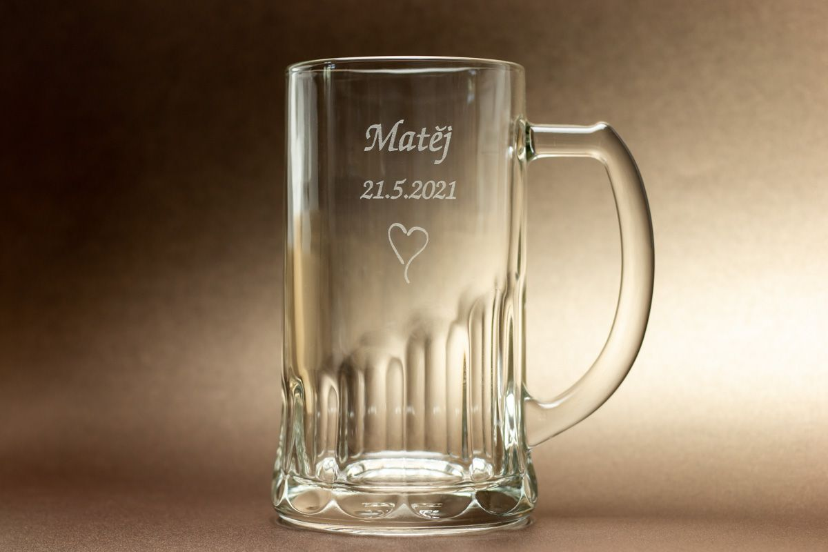Pivní půllitr se jménem - od 24 ks