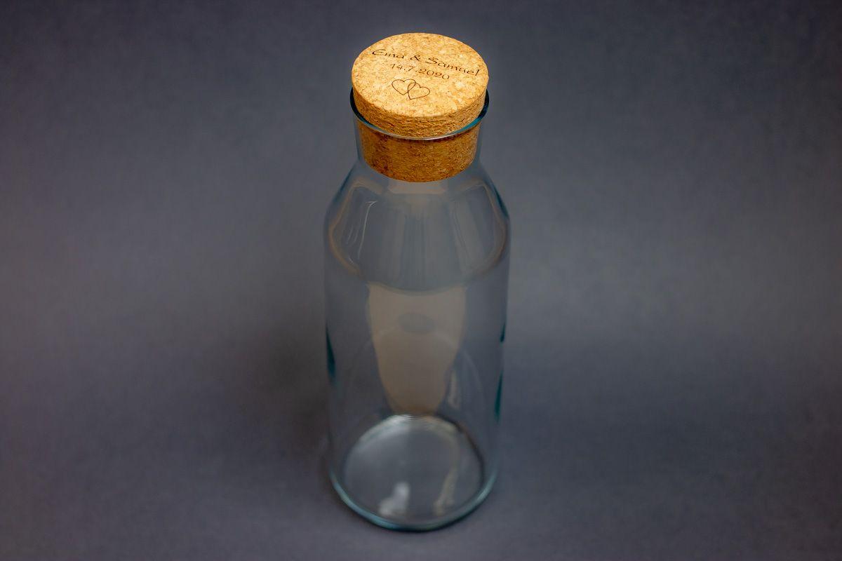 Karafa na vodu s vlastním textem - od 2 ks