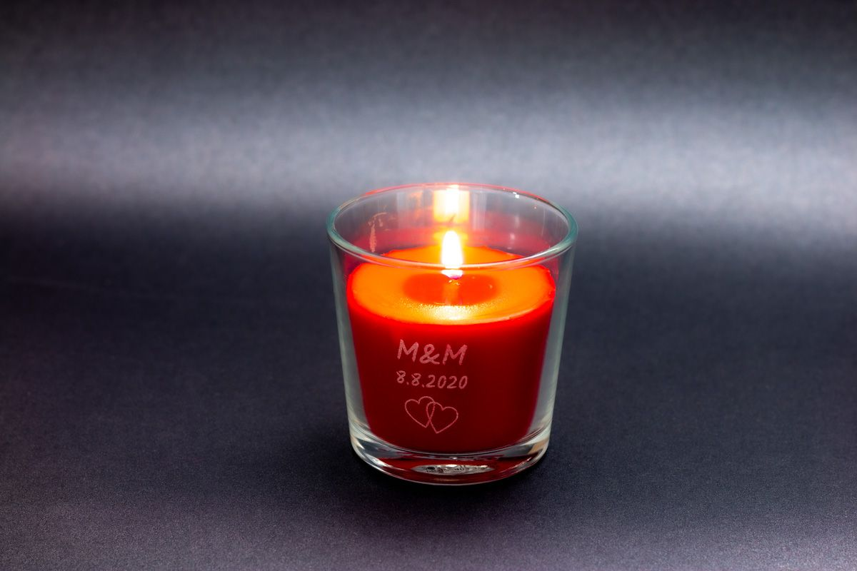 Vonné svíčky ve skle se jmény - letní ovoce