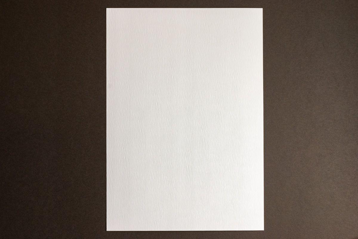 Strukturovaný papír A4 300g - sněhově bílá kůra cedru