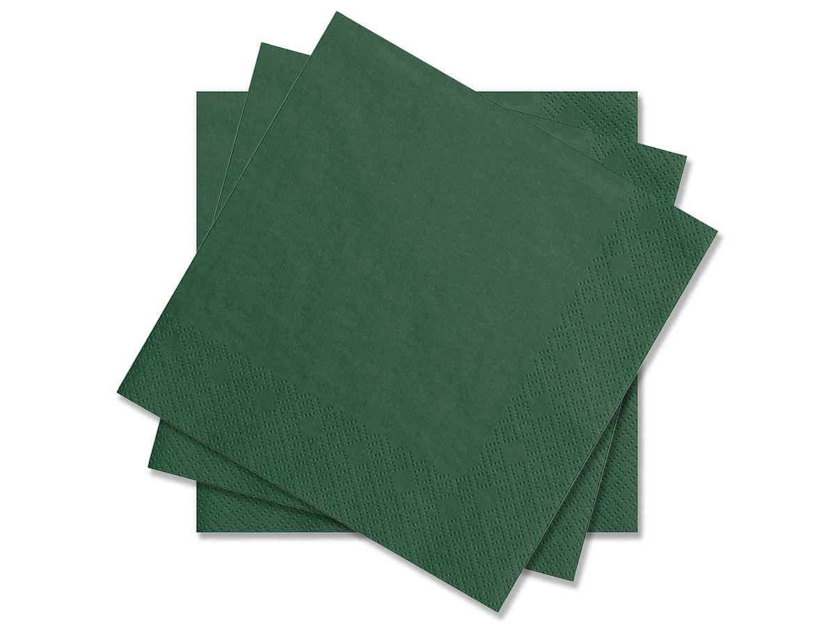 Tmavě zelené svatební ubrousky Premium