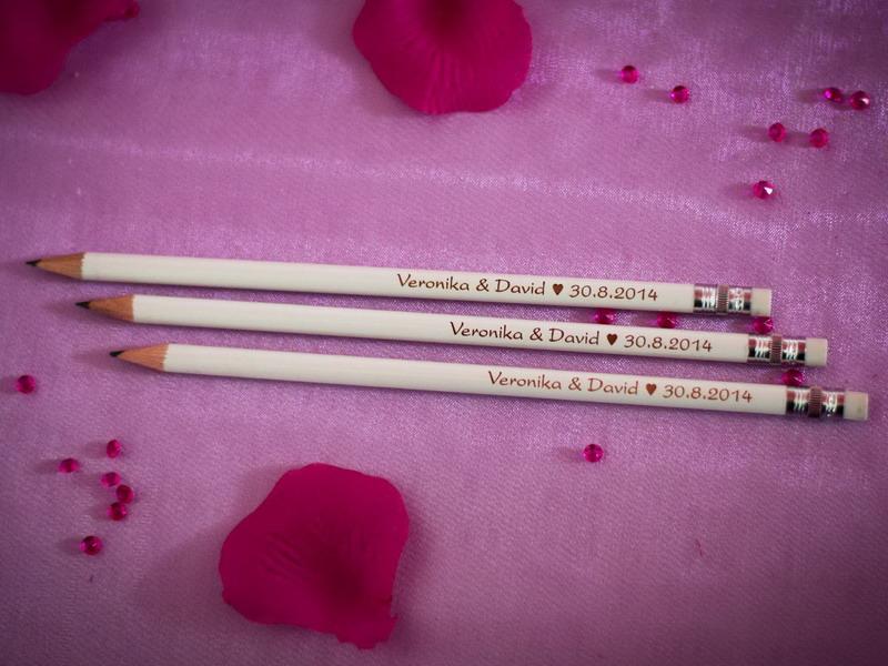 Svatební tužky se jmény - od 80 ks