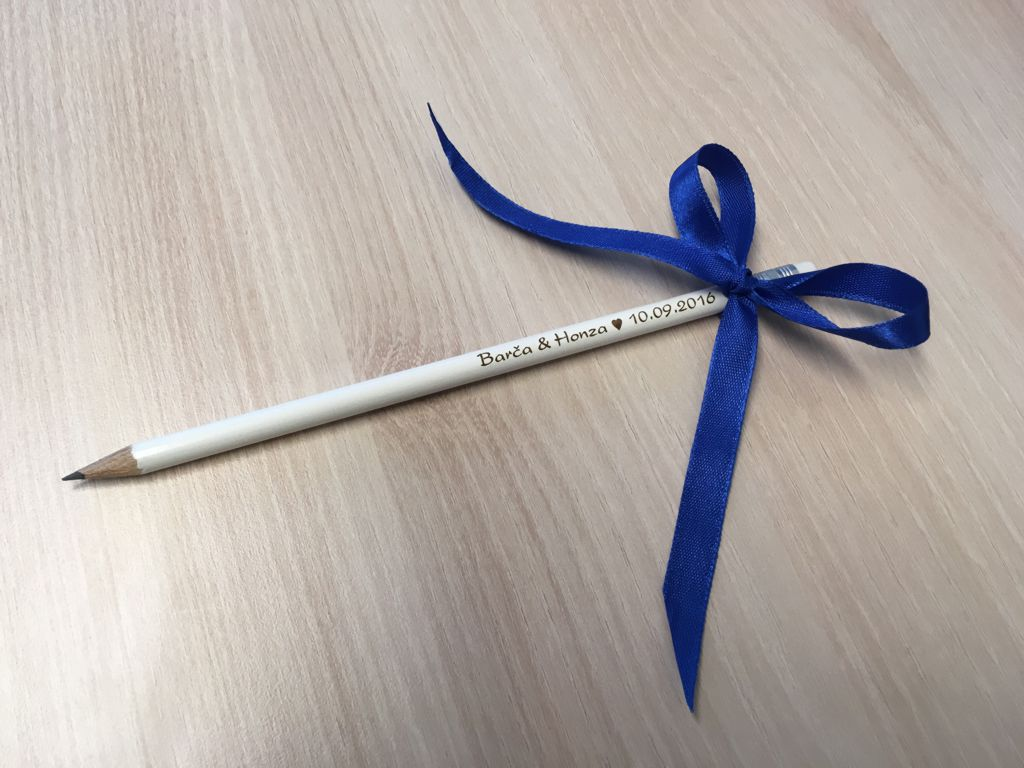 Svatební tužky se jmény - od 10 ks
