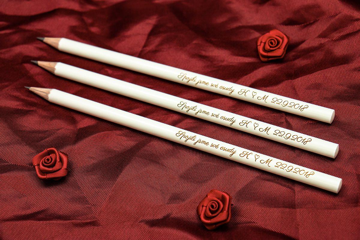 Svatební tužky - od 10 ks - máčené