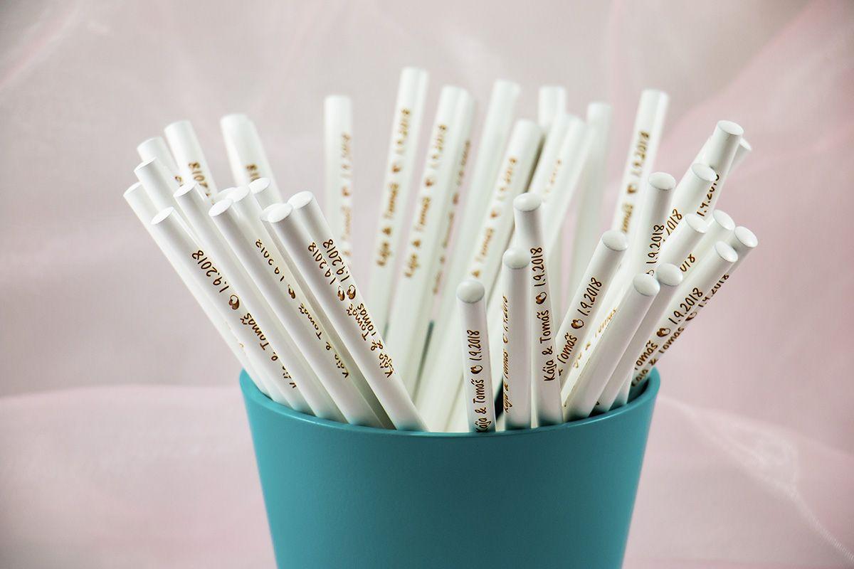 Svatební tužky - od 40 ks - máčené