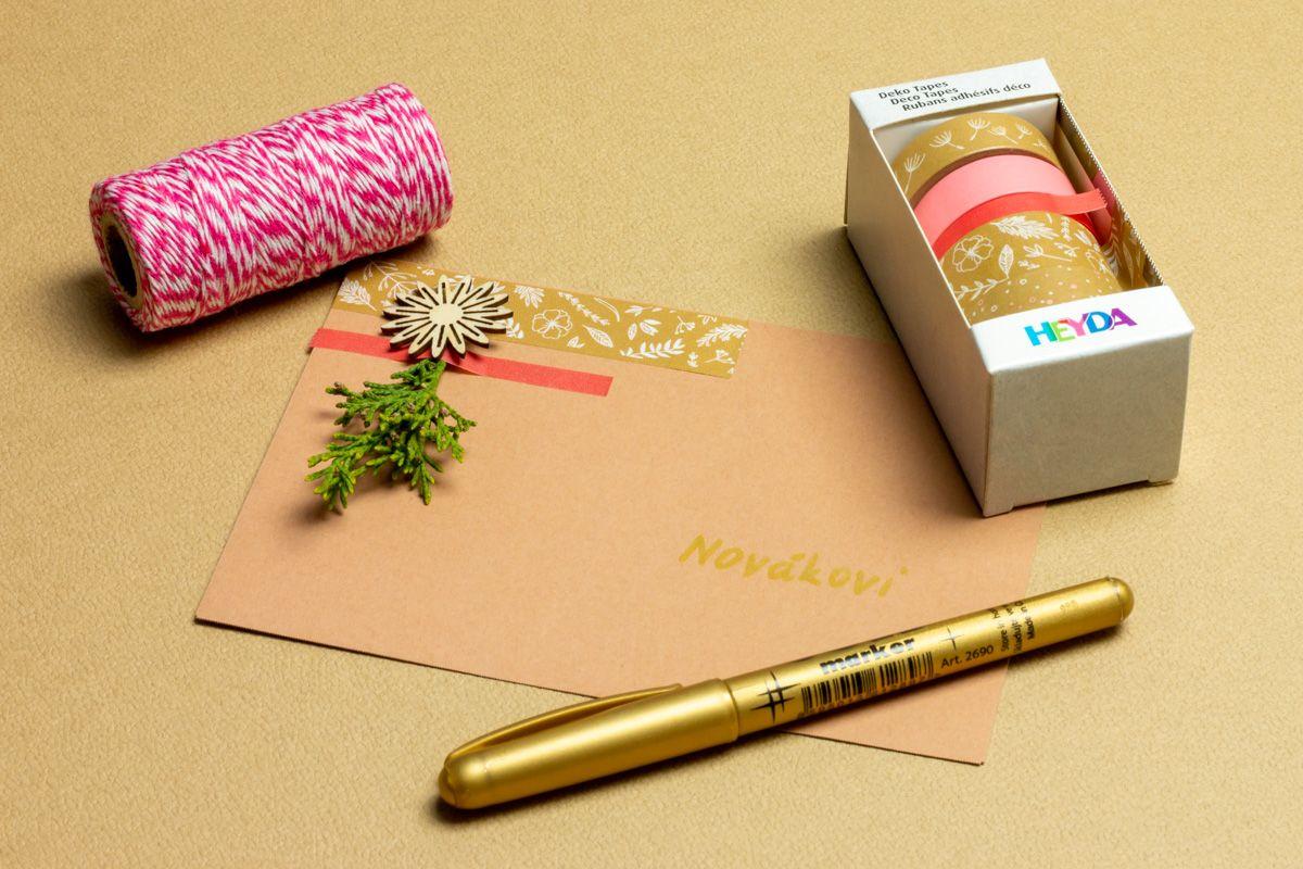 Růžová washi páska