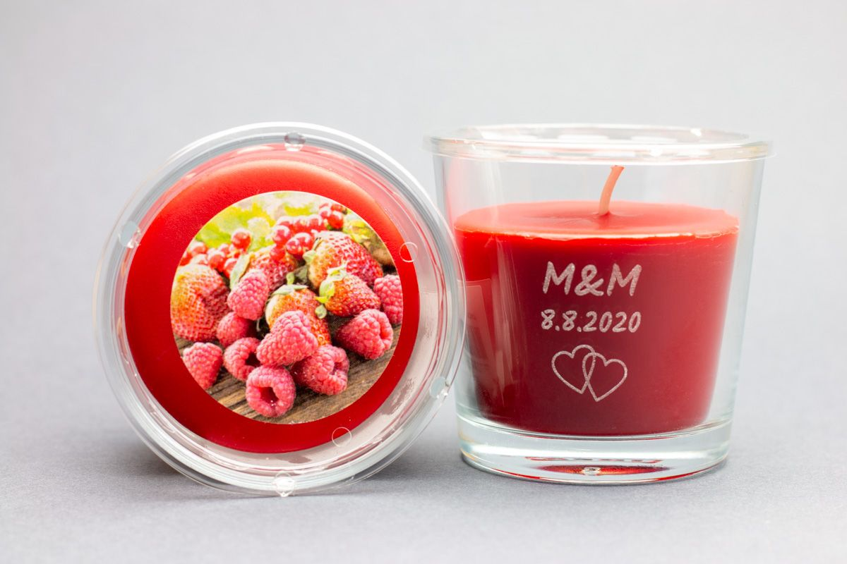 Vonné svíčky se jmény - letní ovoce - od 12 ks
