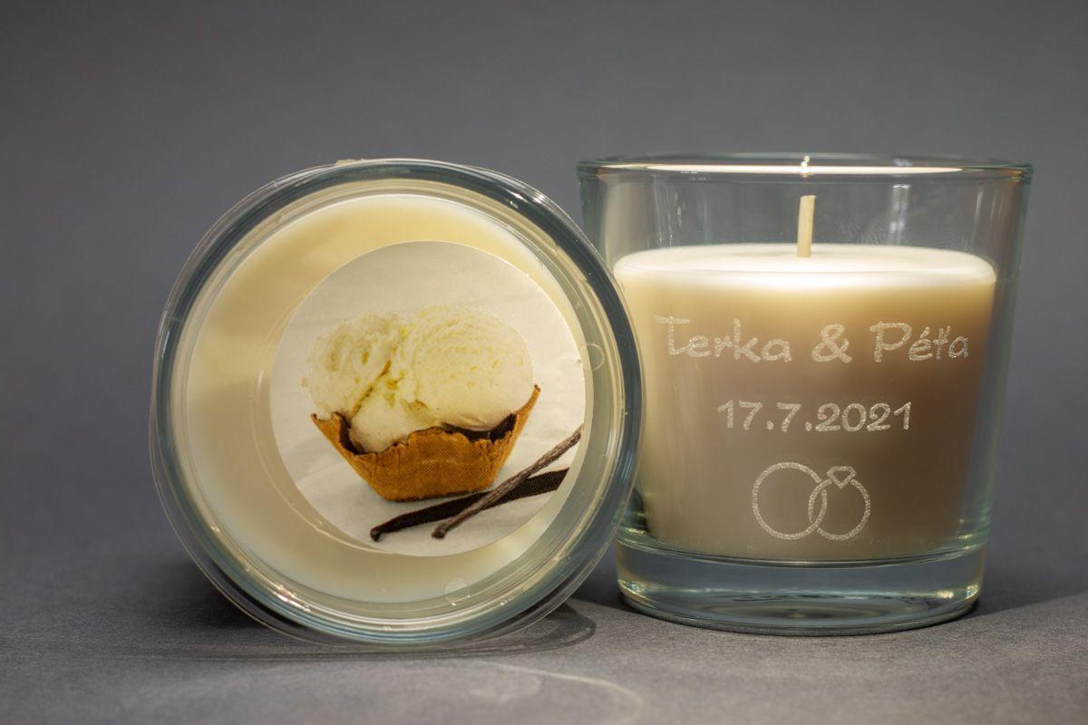 Vonné svíčky se jmény - vanilka - od 12 ks