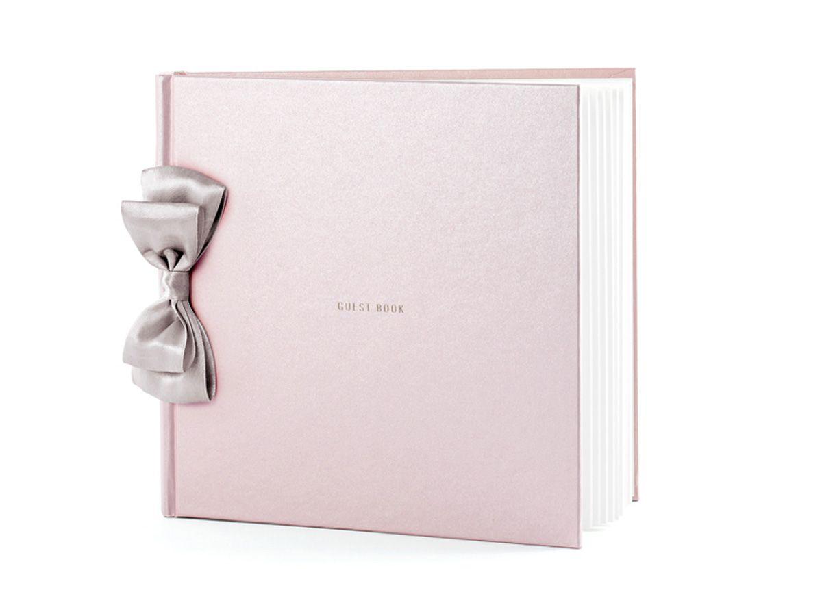 Velká svatební kniha hostů s mašlí