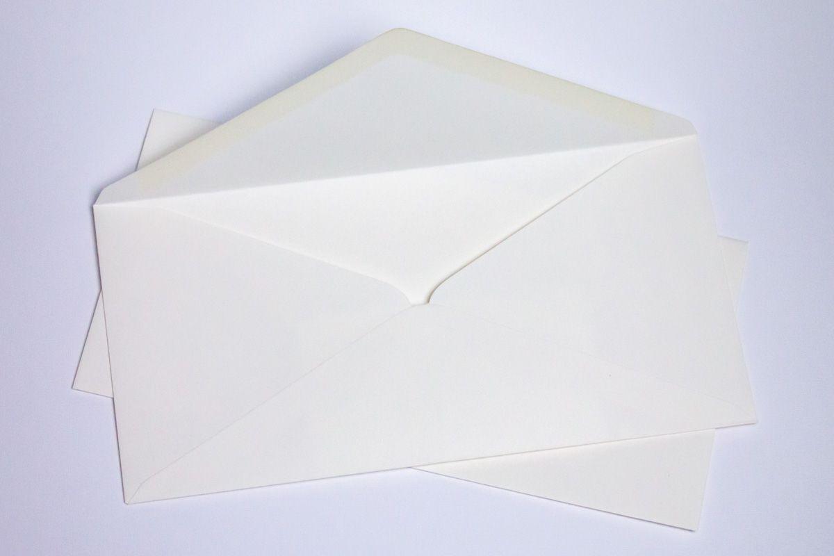 Luxusní obálky na svatební oznámení - sněhově bílé