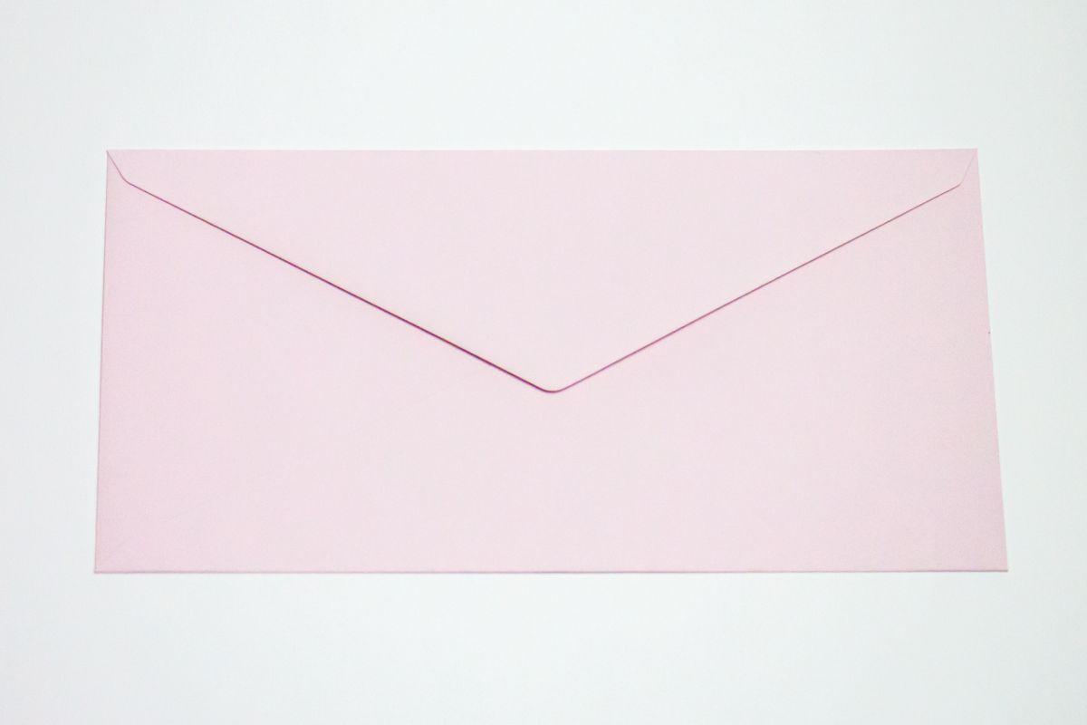 Silné obálky DL na svatební oznámení - baby pink