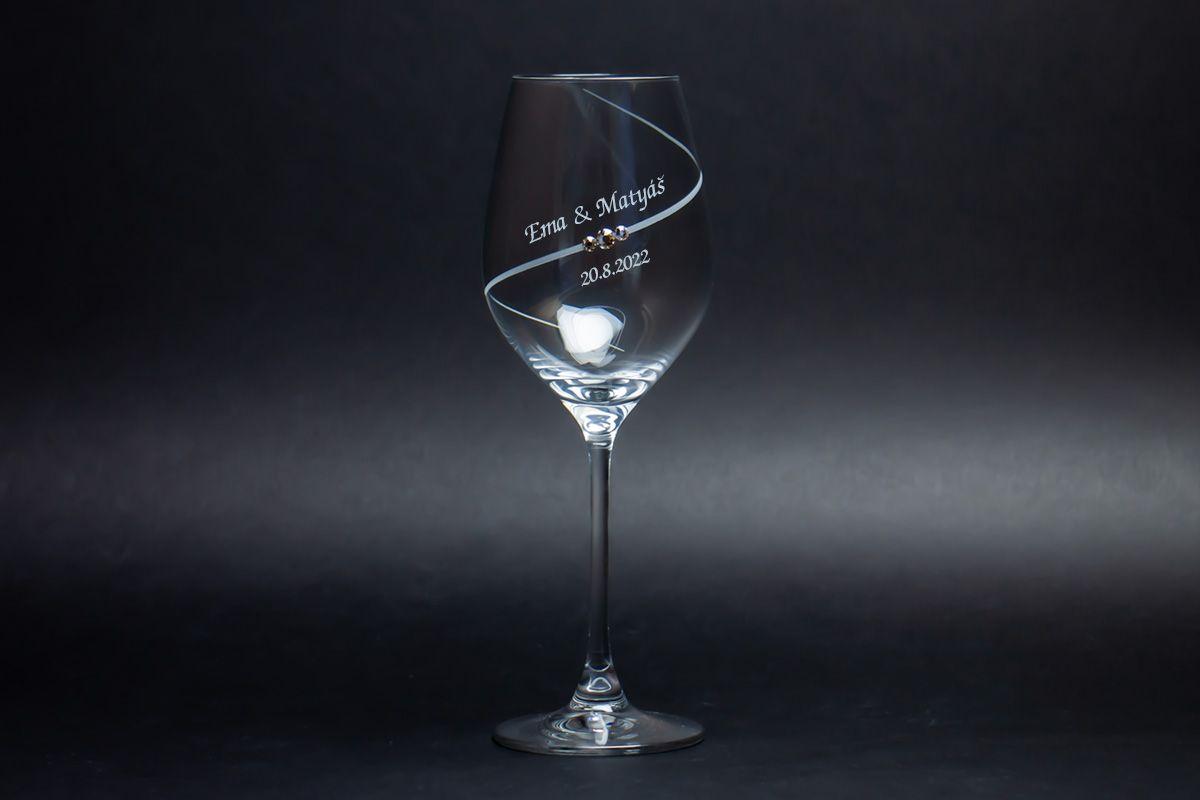 Skleničky na víno s krystaly Swarovski