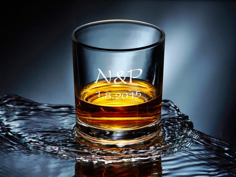 Sklenice whiskey s vlastním textem- od 2 ks