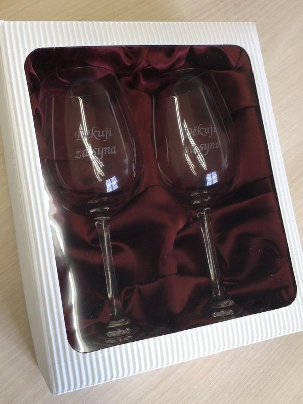 Děkuji za syna - 2 sklenice na víno