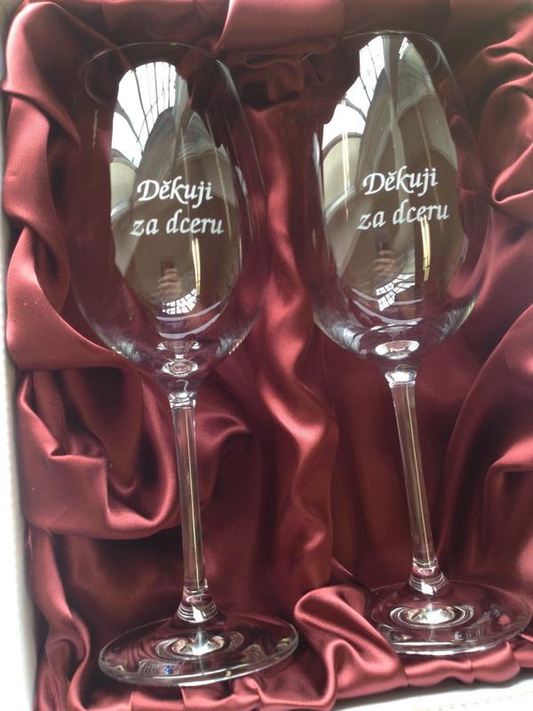 Děkuji za dceru - 2 sklenice na víno