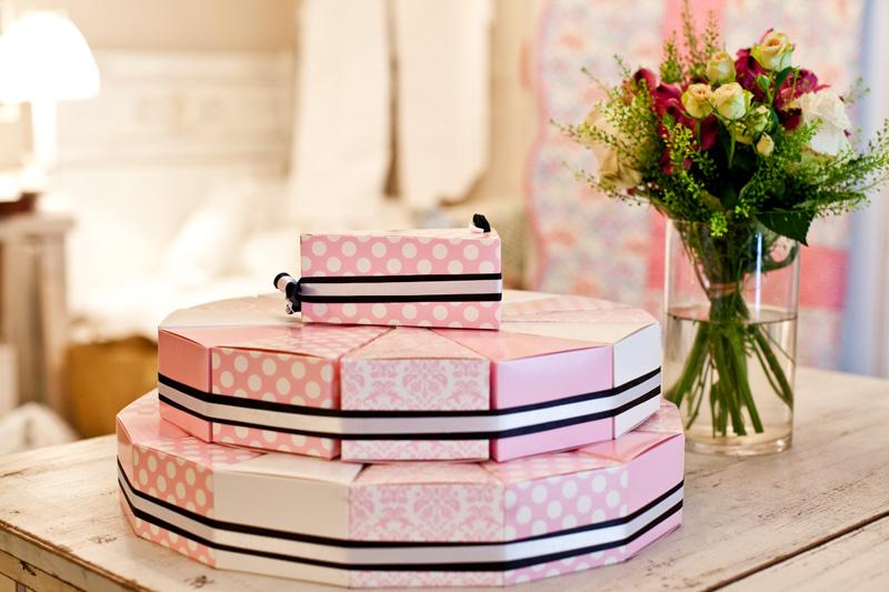Krabičky na výslužky - růžové
