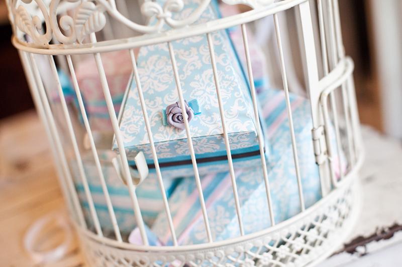 Krabičky na výslužky - modré vintage