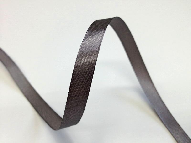 Šedé saténové stuhy - 22 m / 1,0 cm
