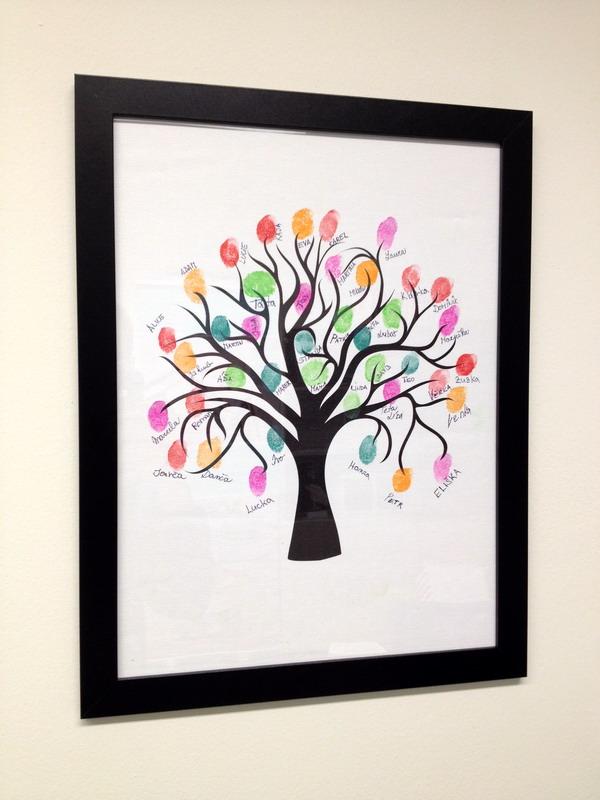 Svatební strom 1 v rámu 33 x 43 cm
