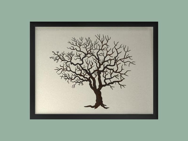 Svatební strom 3 v rámu 53 x 43 cm