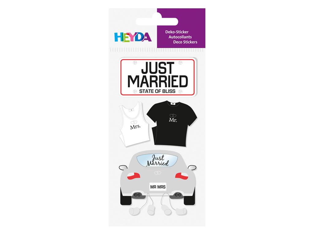 Svatební samolepky - svatba