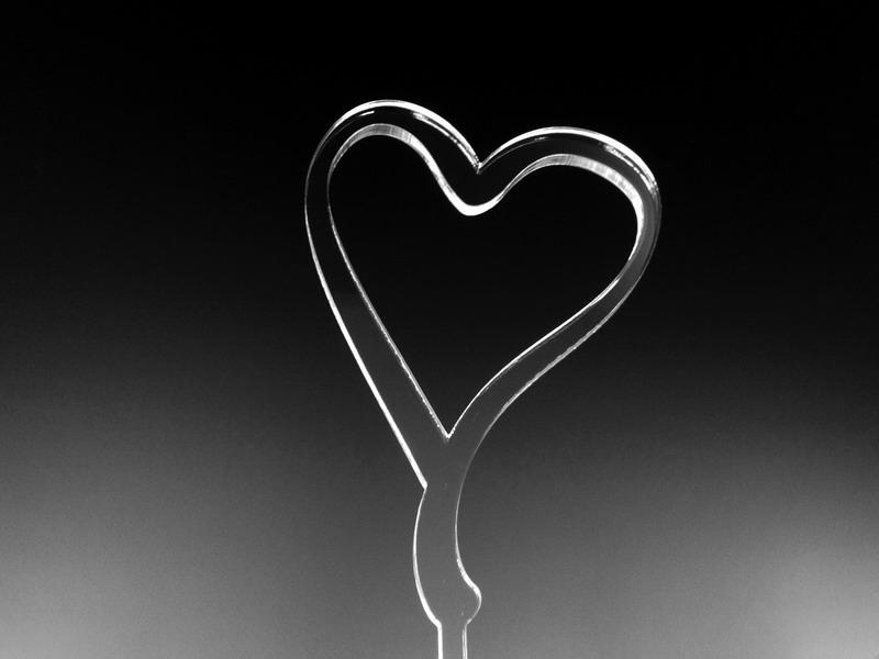 Srdce na dort - čiré