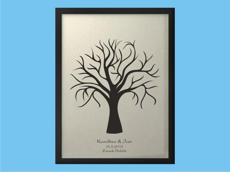 Svatební strom 1 se jmény 43 x 53 cm
