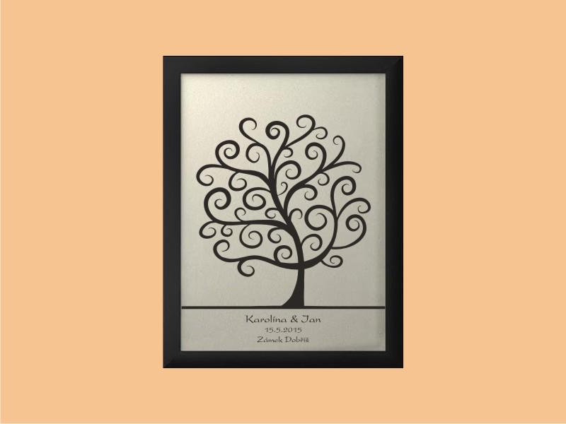 Svatební strom 2 se jmény 33 x 43 cm