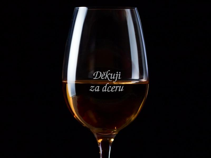Děkuji za dceru - 1 sklenice na víno