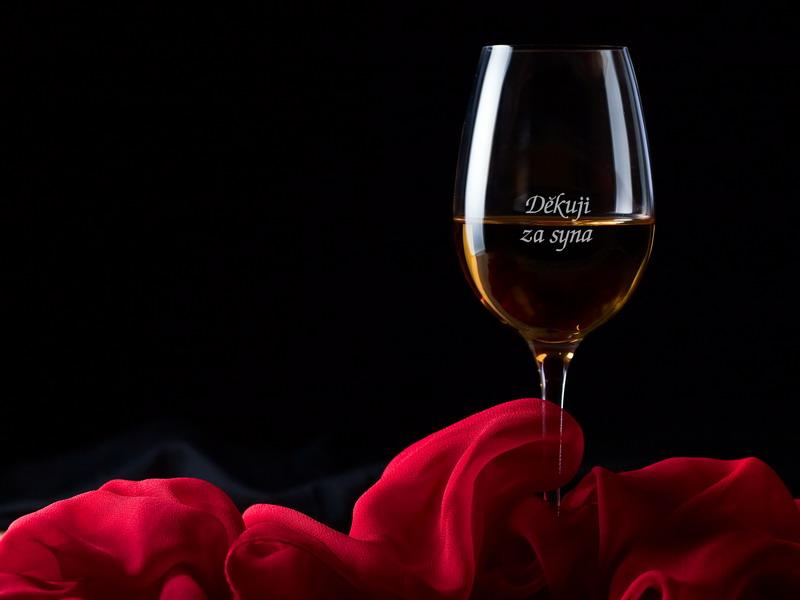 Děkuji za syna - 1 sklenice na víno