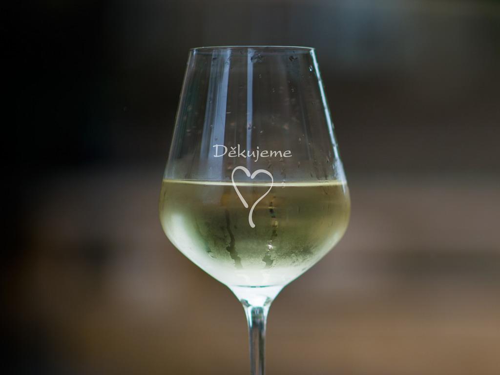 Děkujeme - 1 sklenice na víno