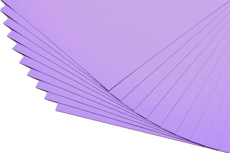 Barevné papíry světle fialové - 20 listů A4 - 130g