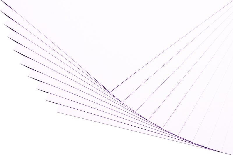 Bílé kreativní papíry - 20 listů A4 - 130g
