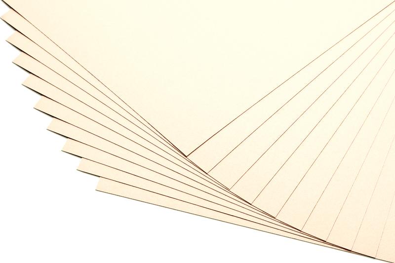 Barevné papíry champagne - 20 listů A4 - 130g