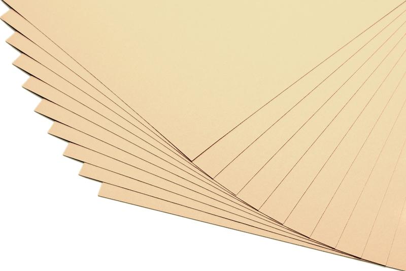 Barevné papíry světle béžové - 20 listů A4 - 130g